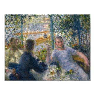 O almoço do Rower por Pierre-Auguste Renoir Convite 10.79 X 13.97cm