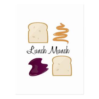 O almoço Munch Cartão Postal