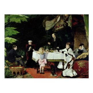 O almoço no conservatório, 1877 cartão postal