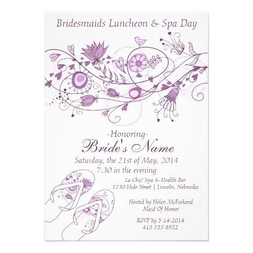 O almoço & os termas lunáticos da dama de honra da convites personalizados
