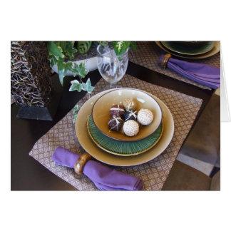 O almoço ou o comensal convidam cartão comemorativo