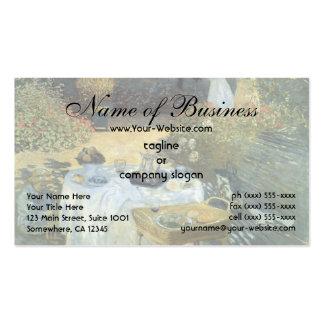 O almoço por Claude Monet Cartao De Visita