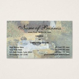 O almoço por Claude Monet Cartão De Visitas