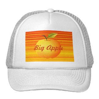 O amarelo alaranjado grande de Apple listra o Boné
