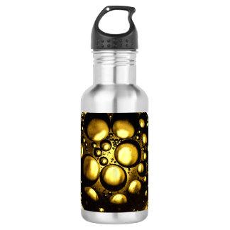 O amarelo borbulha garrafa de água