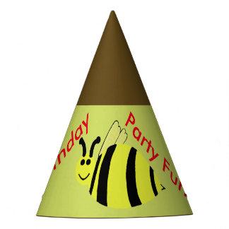 O amarelo Bumble chapéus do aniversário dos balões
