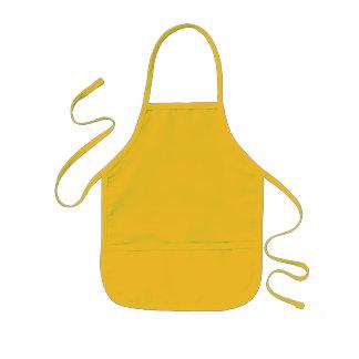 O amarelo caçoa o avental