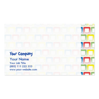 O amarelo do verde do vermelho azul molda o teste cartão de visita