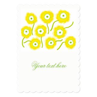 O amarelo floresce convites da ilustração pela