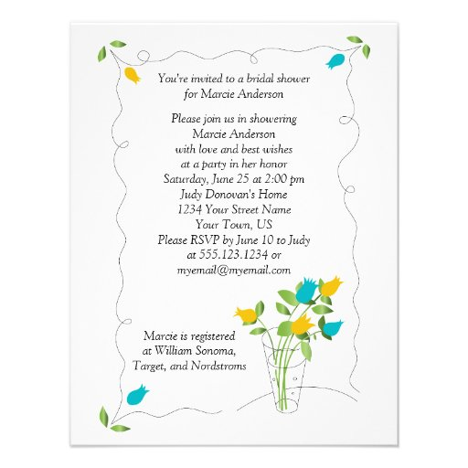 O amarelo & o chá de panela das flores da tulipa d convite