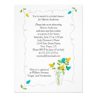 O amarelo o chá de panela das flores da tulipa d convite