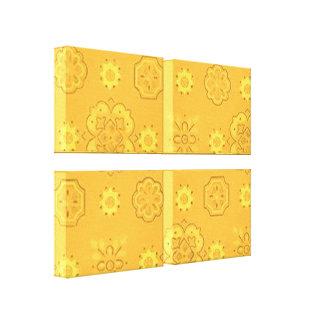 O amarelo retro do Bandanna esticou o impressão da Impressão Em Canvas