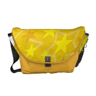 O amarelo Stars a bolsa mensageiro do meio zero do