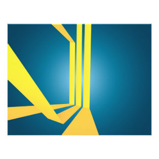 O amarelo triplo abstrato listra a disposição panfleto personalizado