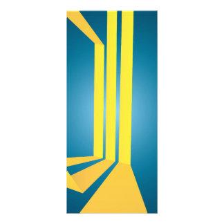 O amarelo triplo abstrato listra a disposição panfletos informativos