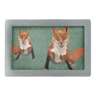 O âmbar Foxes a fivela de cinto retro