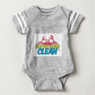 O ambiente mantem nosso slogan limpo dos oceanos body para bebê