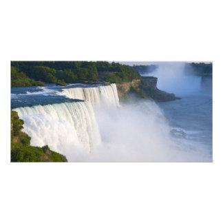 O americano cai no parque estadual de Niagara Fall Cartao Com Fotos
