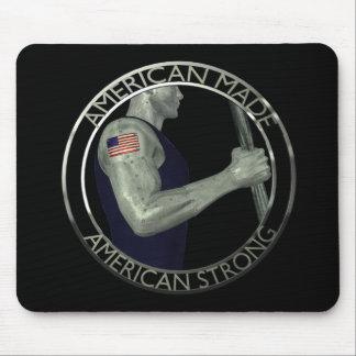 O americano fez forte americano mouse pad