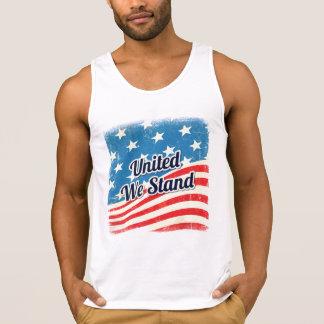 O americano uniu-nos está a bandeira