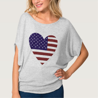 O amor América Bella das mulheres+Parte superior Camiseta