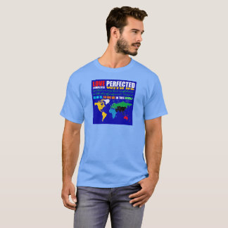 O amor aperfeiçoou o t-shirt unisex camiseta