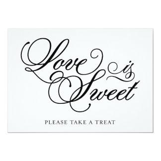 O amor clássico de | é sinal doce do casamento convite 12.7 x 17.78cm