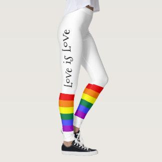 O amor colorido do arco-íris do orgulho gay LGBT é Legging