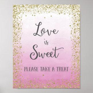 O amor do casamento é impressão doce do poster