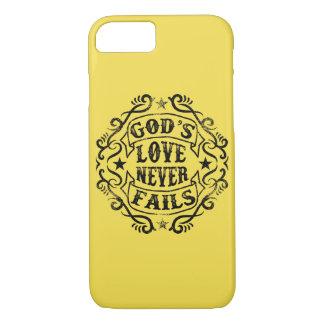O amor do deus nunca falha a capa de telefone