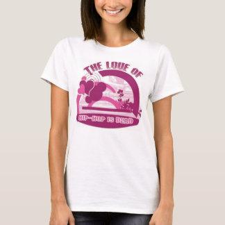 O amor do hip-hop está inoperante camiseta