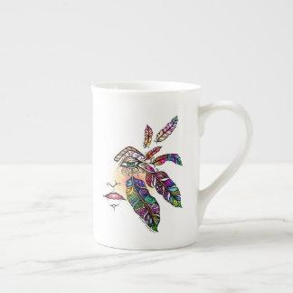 O amor do OLHO EMPLUMA-SE a arte da fantasia Xícara De Chá