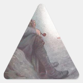 O amor do país dar-lhes-á a vitória adesivo triangular