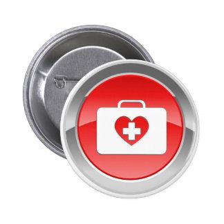 O amor do punho ajuda ao botão bóton redondo 5.08cm