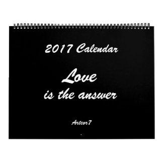 O amor é a página 2 enorme preta do calendário da