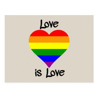 O amor é amor cartão postal