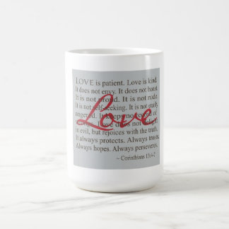 O amor é caneca paciente