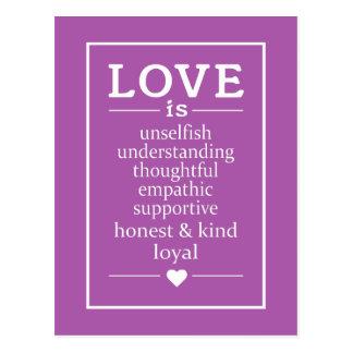 O amor é… cartões feitos sob encomenda do assento