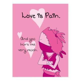 O amor é dor - namorados de Keiko Cartão Postal