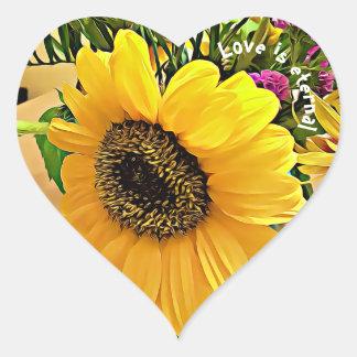 O AMOR É ETERNO, etiquetas dadas forma coração do