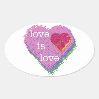 O amor é etiqueta do coração do amor