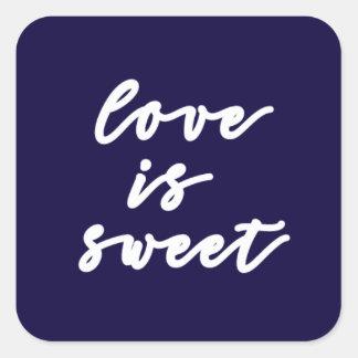 o amor é etiqueta doce