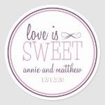 O amor é etiquetas doces (ameixa roxa/violeta)
