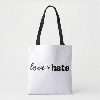 O amor é maior do que o bolsa do ódio