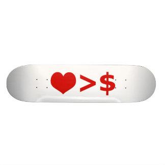 O amor é mais importante do que o conceito do skate personalizado