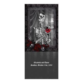 O amor é menu gótico eterno do casamento 10.16 x 22.86cm panfleto