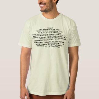 O amor é o cheiro da protecção solar… camiseta