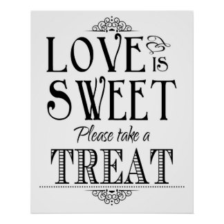 O amor é poster doce do sinal do casamento