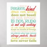 o amor é poster dos corinthians 13 do paciente 1