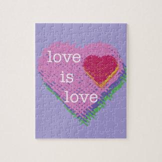 o amor é quebra-cabeça do coração do amor